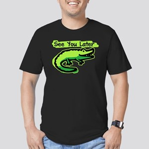 See You Later Alligator Men's Fitted T-Shirt (dark