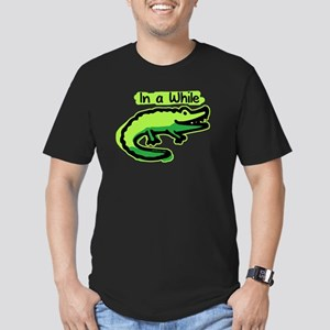 In a While Crocodile Men's Fitted T-Shirt (dark)