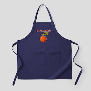 I Love Oranges Apron (dark)