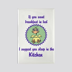 Sleep in the Kitchen Rectangle Magnet