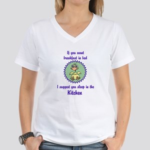 Sleep in the Kitchen Women's V-Neck T-Shirt