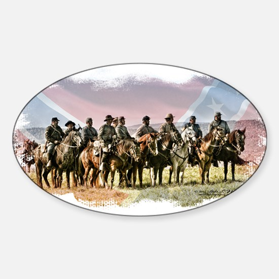 Civil War Reenactment Cavalry Sticker (Oval)