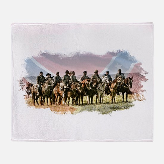 Civil War Reenactment Cavalry Throw Blanket