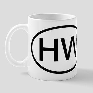HW - Initial Oval Mug