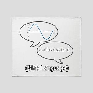 Sine Language Throw Blanket