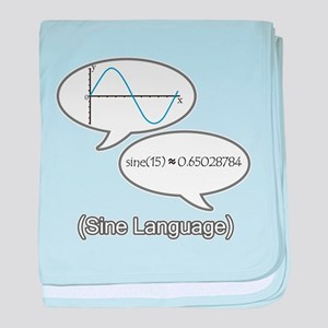 Sine Language baby blanket