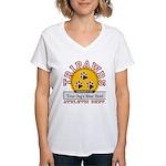 Tripawds Athletic Dept. Women's V-Neck T-Shirt