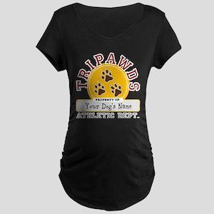 Tripawds Athletic Dept. Maternity Dark T-Shirt