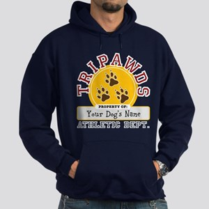 Tripawds Athletic Dept. Hoodie (dark)