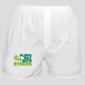 French Horn Plays Well Boxer Shorts