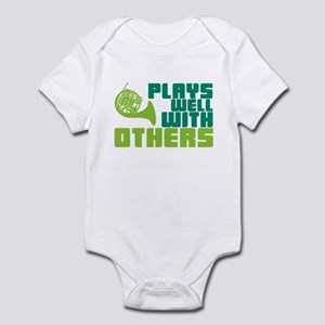 French Horn Plays Well Infant Bodysuit