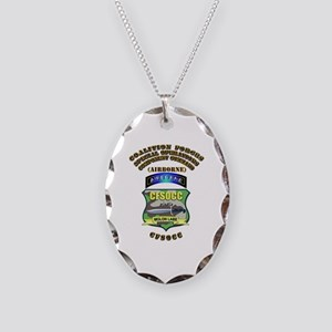 SOF - CFSOCC Necklace Oval Charm