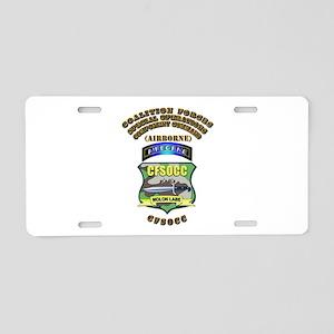 SOF - CFSOCC Aluminum License Plate