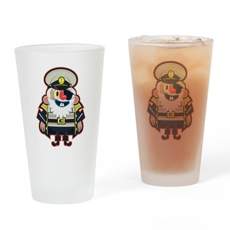 Captain Cartoon Drinking Glass