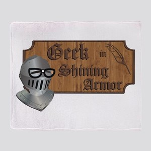 Geek Armor Throw Blanket