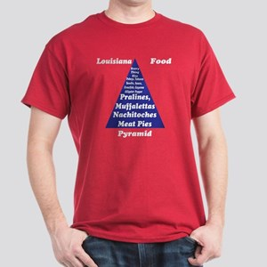 Louisiana Food Pyramid Dark T-Shirt