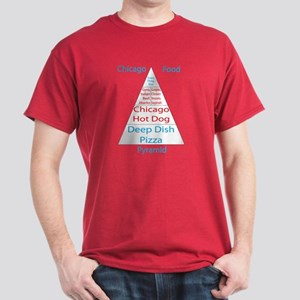 Chicago Food Pyramid Dark T-Shirt