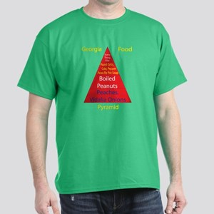 Georgia Food Pyramid Dark T-Shirt