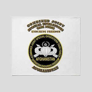 SOF - CJSOTF - Enduring Freedom Throw Blanket