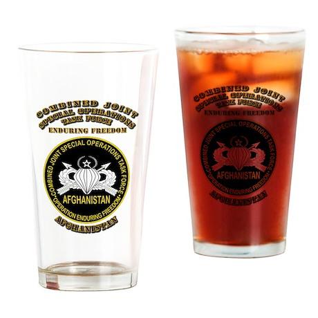 SOF - CJSOTF - Enduring Freedom Drinking Glass