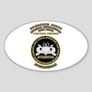 SOF - CJSOTF - Enduring Freedom Sticker (Oval)
