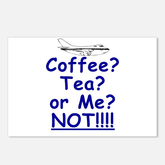 Not Coffe Tea or Me Postcards (Package of 8)