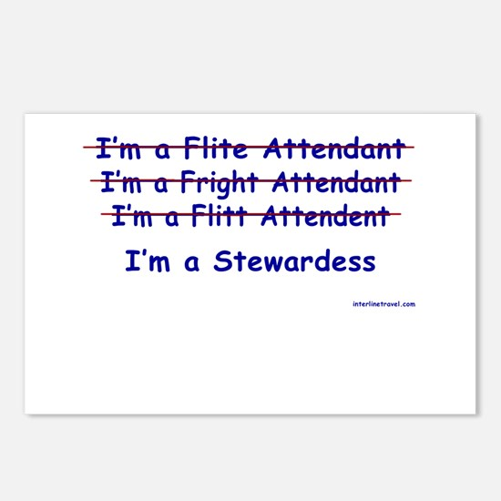 I'm a stewardess Postcards (Package of 8)