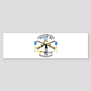 Infantry - Follow Me Sticker (Bumper)