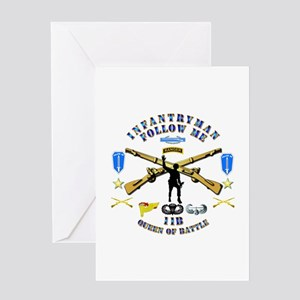 Infantry - Follow Me Greeting Card