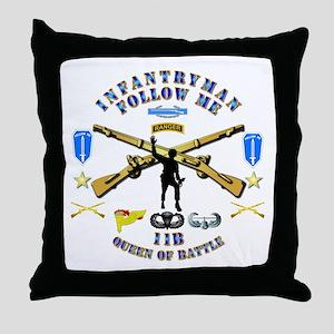 Infantry - Follow Me Throw Pillow