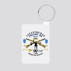 Infantry - Follow Me Aluminum Photo Keychain