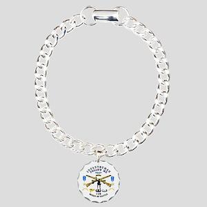 Infantry - Follow Me Charm Bracelet, One Charm