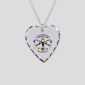 Infantry - Follow Me Necklace Heart Charm