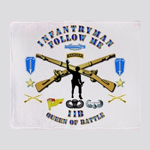 Infantry - Follow Me Throw Blanket