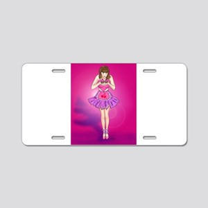 Cherry Cupcakes Pin-up Aluminum License Plate