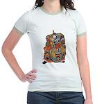 Japanese Samurai Warrior Jr. Ringer T-Shirt
