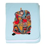 Japanese Samurai Warrior baby blanket