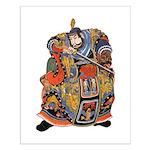 Japanese Samurai Warrior Small Poster