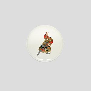 Japanese Samurai Warrior Mini Button