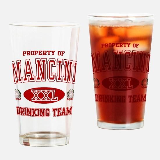 Mancini Italian Drinking Team Drinking Glass
