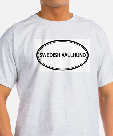 Swedish Vallhund Euro Ash Grey T-Shirt