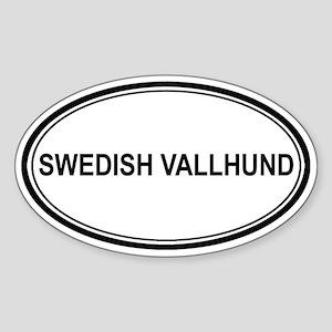 Swedish Vallhund Euro Oval Sticker