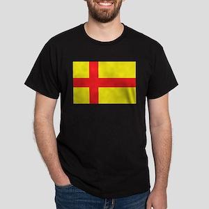 Orkney Islands Flag Black T-Shirt