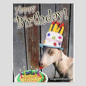 Sassy Happy Birthday Small Poster