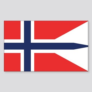 Norway State Flag Rectangle Sticker