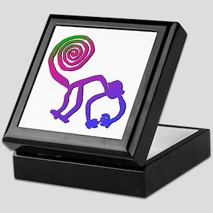 Nazca Monkey Groovy Colors Keepsake Box