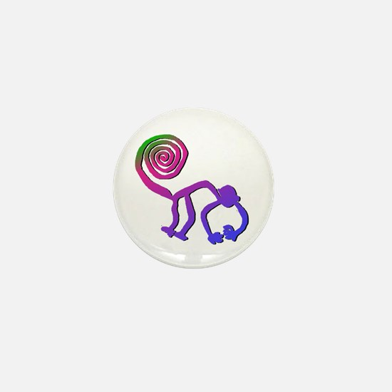Nazca Monkey Groovy Colors Mini Button