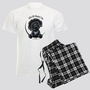 Black Labradoodle IAAM Men's Light Pajamas
