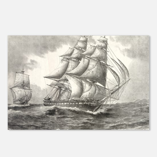 USS Constitution postcards (Package of 8)