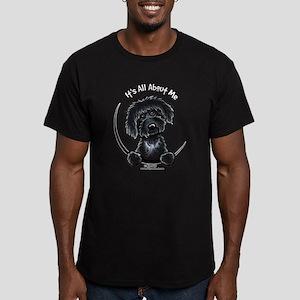 Black Labradoodle IAAM Men's Fitted T-Shirt (dark)